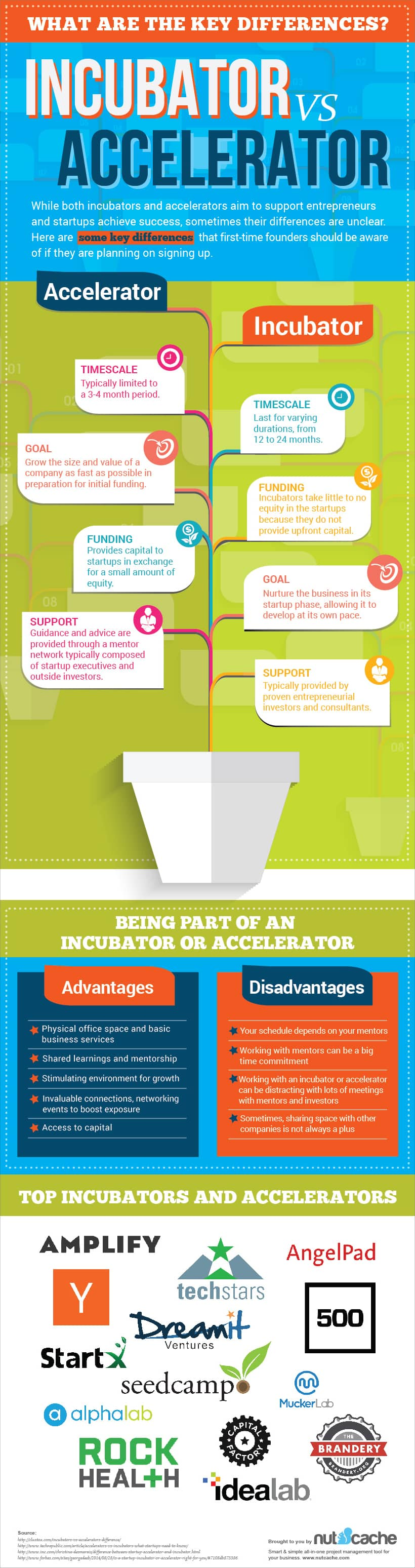 nutcache incubators vs accelerators
