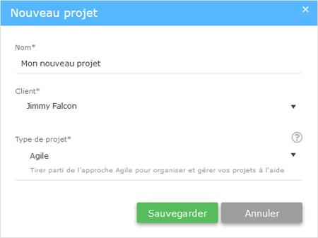 nouveau projet Agile