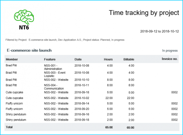 time-into-invoice