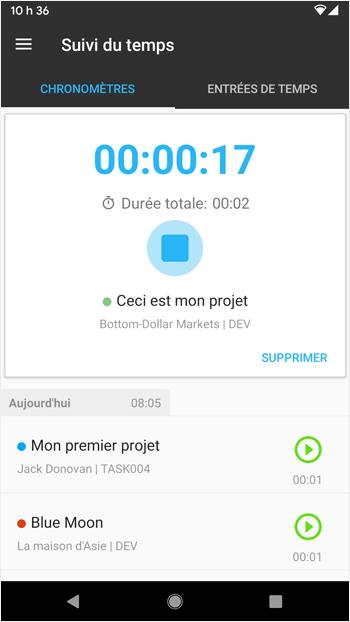 application mobile nutcache